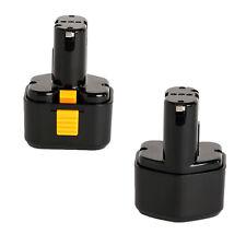 2x 9.6V 2000mAh Battery For Hitachi Drill EB9G EB9M EB9S EB924 EB9B FEB9S