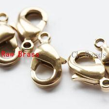 20 Pieces Raw Brass Round Lobster Clasp 12mm (322C-I-9X)