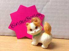 Vintage Kenner Littlest Pet Shop Cat Kitten Kitties Swivel Neck Roller Feet Hair