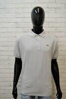 Polo Uomo LACOSTE Size 6 2XL Maglia Manica Corta Shirt Herrenhemd Jersey Grigia