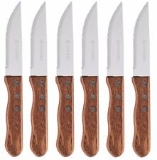 Viners Rodeo Texas/Forêt Style Extra Large Jumbo couteaux à steak lot de 6