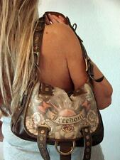 ISABELLA FIORE LEATHER TATTOO FREEDOM MESSENGER SHOULDER BAG HAUTE HIPPIE