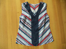JAG SLEEVELESS STRIPE SILK BLOUSE SHIRT TOP SIZE 6