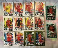 MATCH ATTAX EXTRA 2020/21 TEAM SET OF 14 LIVERPOOL CARDS INC SIGNATURE STYLES