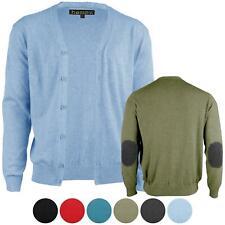 Strickjacke Herren 2XL-5XL 100% Baumwolle Feinstrick Pullover Jacke Cardigan