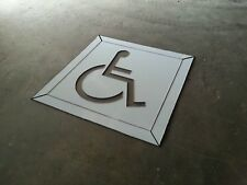 Disabled Carpark Stencil  Line Marking  Signs  Safety Wheel Chair 1200mm x 1200m