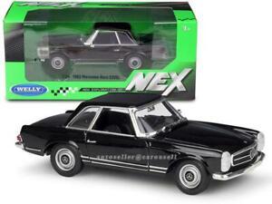 MERCEDES BENZ 230SL 1:24 Scale Diecast Model Toy Car Cars 230 SL Black