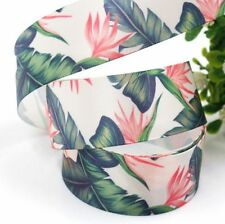 ***REDUCED***CLEARANCE PRICED PALM LEAVES AND FLOWERS  - SATIN RIBBON 25mm/1""