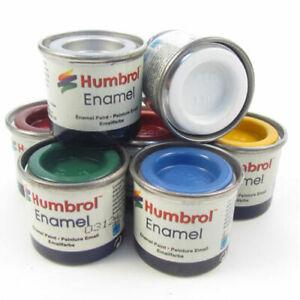 Humbrol - 14ml Enamel Model Paint - All Colours - Matt, Gloss, Satin, Metallic