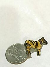 Vintage Zebra small old enamel pin