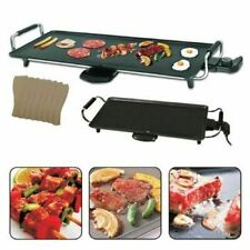 LARGE TEPPANYAKI GRILL TABLE ELECTRIC HOT PLATE BBQ GRIDDLE CAMPING 2000W