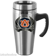 Auburn Tigers 14 oz Flame Stainless Steel Travel Mug w/ Handle Football Tailgate
