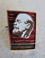 Russian Soviet Pin Political Communist Enamel Red Banner LENIN 1970 В И Ленин