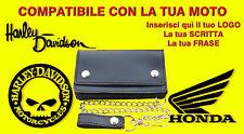 Borsello bikers da personalizzare Honda portafoglio Wallet Leather geldbörse