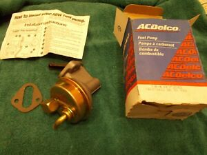 Replacement AC 40725 Fuel Pump New GM ACDELCO Camaro Z28 1967 Application