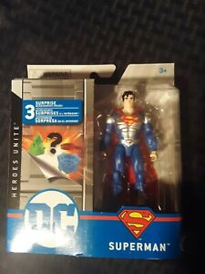 RARE DC SPIN MASTER SUPERMAN SILVER METAL CHEST VARIANT HEROES UNITE