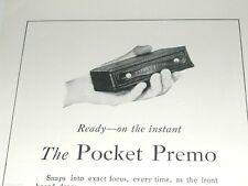 1920 KODAK camera advertisement, Pocket Premo, small folding Kodak camera