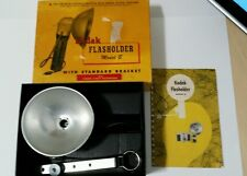 Vintage Kodak Flasholder Model B USA Original Box & Bracket Film Slide Flash