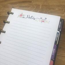 Notes Mini HP Taille Floral Planificateur Insert FILOFAX Kikkik 12 pieces