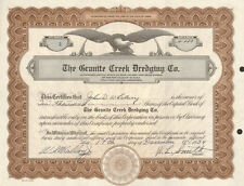 The Granite Creek Dredging Co. > 1934 Idaho old stock certificate share