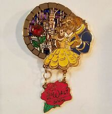 DISNEY PIN LE BELLE BEAUTY AND BEAST IT ALL STARTED WITH WALT STAINED GLASS