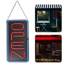 "12""x24"" Neon Open Business Sign Vertical Led Light Tube Animated Motion Frame"