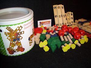 Wooden Construction set - Junior construction set 90 wooden parts