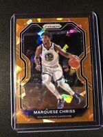 2020-21 Panini Prizm Marquese Chriss Orange Cracked Ice Prizm #177 Warriors