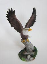 Weißkopf Seeadler Adler Vogel Garten Deko Tier Figur Skulptur Raub Vogel auf Ast