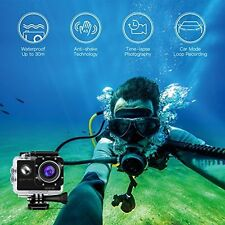 APEMAN Action Waterproof Camera Action Sport 1080P 12MP 170 Ultra Wide-Angle