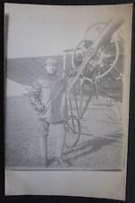 1917ca FOTO CARTOLINA Corpo Aeronautica Libia Tripolitania colonie Bleriot(?)
