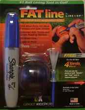 FAT LINE Line M Up Golf Ball Putting Alignment Tool/Marker------Blue-----new
