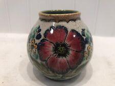 Vintage GOUDA ZUID Holland Art Pottery Vase Royal Areo FLOWER FLORAL Gorgeous