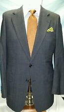 Mens HICKEY FREEMAN blue 2 button single vent glenn plaid suit sz 41L