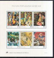 Portugal 1988 postfrisch Block MiNr. 62  Gemälde des 20. Jahrhunderts