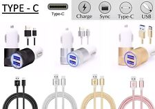 100% FAST CAR CHARGER & CABLE FOR SAMSUNG GALAXY S8 S8+ S9 S9+ Note 8 A5 & A7