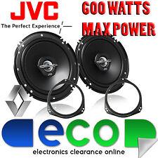 Renault Traffic 01-14 JVC 16cm 6.5 Inch 600 Watts 2 Way Front Door Car Speakers
