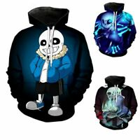 Mens Undertale Hoodie Sans Coat Teens Cosplay Costume Jacket Top Cool Coats