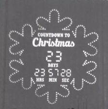 Lightshow Projection Countdown To Christmas Snowflake White APP Controlled