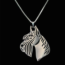❤️ Halskette, Anhäger Riesenschnauzer, Giant Schnauzer, Hundekopf pendant