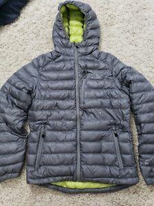 LL BEAN 850 Down Filled Puffer Jacket Coat Men S HOODIE FULL ZIP GREY stowaway