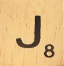 INDIVIDUAL WOOD SCRABBLE TILES! 1.25 CENTS PER TILE. LETTER J