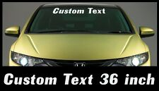 Custom Text 36 inch Windshield Banner Sticker Your Choice Car truck JDM Euro
