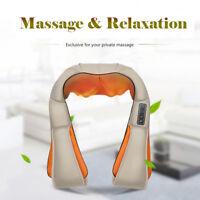 Electric Shoulder Back Neck Massager Kneading Shiatsu Heat Massage Pain Relax
