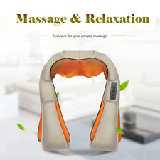 Electrical neck massager shiatsu Back Shoulder Body Infrared 4D Knocking Massage