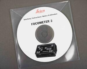 Leica Focometer 2 Instructions PDF on CD, Anleitung, Notice d'utilisation, Leitz