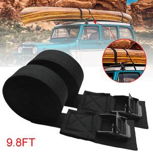 2pcs Cargo Tie Down Car Roof Rack Trailer Luggage Lock Lashing Strap Cord Buckle