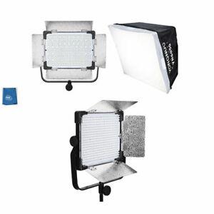 Yongnuo YN6000 Bi-Color LED Panel 3200-5600K With Soft Box & bracket 600 light