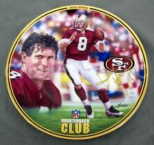 Steve Young Nfl Quarterback Club Porcelain Plate San Francisco 49ers Le Football
