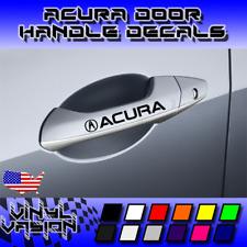 4x ACURA Door Handle Decal Sticker TSX TL TLX RL MDX RDX Vtec